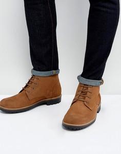 Бордовые замшевые ботинки со шнуровкой Dead Vintage - Рыжий