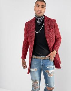 Премиум-пальто из букле с добавлением шерсти Devils Advocate - Красный