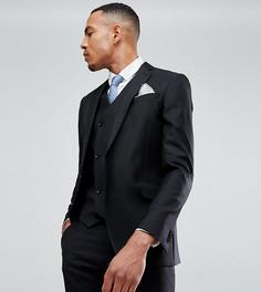 Узкий черный пиджак из 100% шерсти ASOS TALL - Черный
