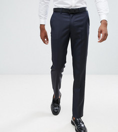 Темно-синие узкие брюки из 100% шерсти ASOS TALL - Темно-синий