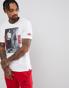 Белая футболка с фотопринтом Nike Jordan 878411-100 - Белый