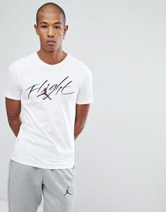 Белая футболка с логотипом в стиле ретро Nike Jordan 908013-102 - Белый