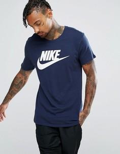 Темно-синяя футболка с логотипом Nike Futura 696707-454 - Темно-синий