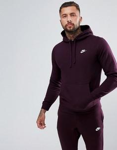 Худи фиолетового цвета Nike Club 804346-652 - Фиолетовый