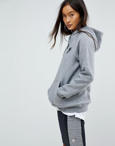 Серый худи-пуловер Nike Rally - Серый
