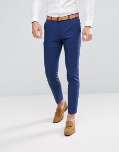 Синие зауженные брюки ASOS Wedding - Темно-синий