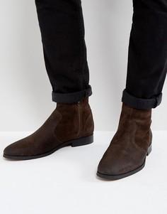 Коричневые замшевые деконструированные ботинки Frank Wright - Коричневый