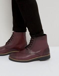 Блестящие ботинки в стиле милитари Frank Wright - Красный