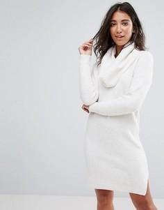 Платье-джемпер со свободным воротом Miss Selfridge - Черный