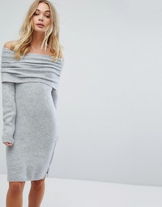 Платье-джемпер миди со спущенными плечами Miss Selfridge - Мульти