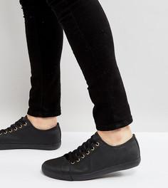 Черные кеды на шнуровке для широкой стопы ASOS - Черный