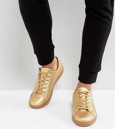 Золотистые кроссовки для широкой стопы с эффектом металлик ASOS - Золотой