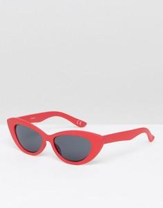 Солнцезащитные очки кошачий глаз ASOS - Красный