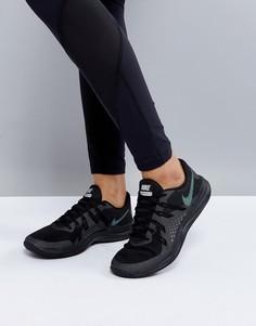 Черные кроссовки с эффектом металлик Nike Training Lunarexceed - Черный
