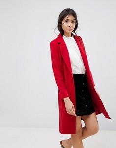 Длинное пальто с добавлением шерсти Helene Berman Zoe - Фиолетовый
