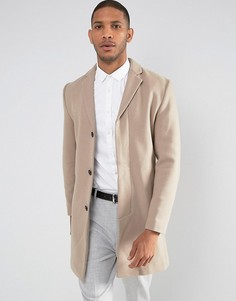 Пальто с добавлением шерсти Selected Homme - Бежевый