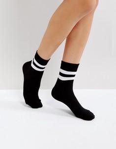 Носки в рубчик с полосками ASOS - Черный