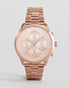 Часы-хронограф цвета розового золота Michael Kors MK6521 - Золотой