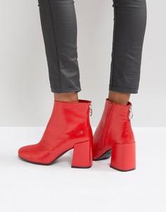 Красные лакированные ботинки Boohoo - Красный