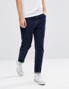 Суженные книзу джинсы цвета индиго ASOS - Синий
