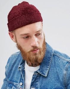 Фактурная бордовая шапка-бини ASOS - Красный