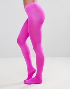 Блестящие розовые колготки плотностью 90 ден ASOS - Синий