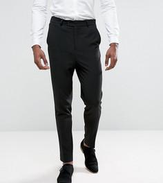 Черные суженные книзу брюки в строгом стиле ASOS TALL - Черный