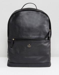 Черный кожаный рюкзак с тиснением ASOS - Черный