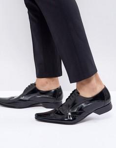 Черные броги со шнуровкой Jeffery West Pino - Черный