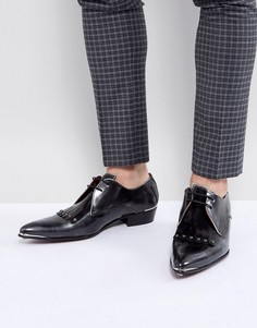 Туфли с черепами Jeffery West Adam Ant - Серый