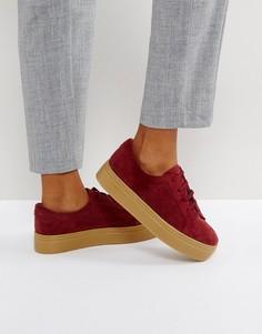 Замшевые кроссовки на шнуровке ASOS DAY LIGHT - Красный