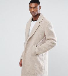 Светло-бежевое пальто из искусственного меха ASOS TALL - Бежевый