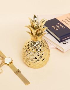 Золотистая подставка под украшения в виде ананаса Sass & Belle - Мульти