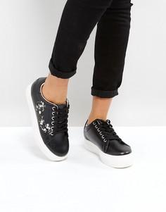 Кроссовки с вышивкой Park Lane - Черный