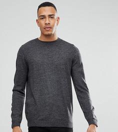 Темно-серый джемпер с круглым вырезом ASOS TALL - Серый