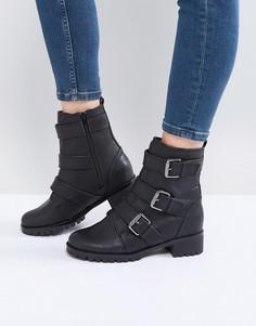 Байкерские ботинки с пряжками Call It Spring Laoniel - Черный