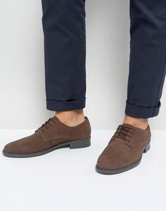 Коричневые ботинки из вощеной кожи на шнуровке Frank Wright - Коричневый