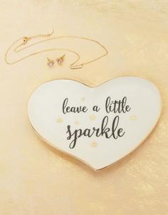 Блюдце для украшений с надписью Leave a Little Sparkle Sass & Belle - Мульти