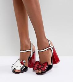 Босоножки на каблуке со съемными нашивками Hello Kitty X ASOS - Мульти