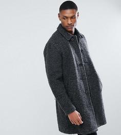 Темно-серое пальто из искусственного меха ASOS TALL - Серый