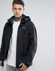 Черная непромокаемая куртка с капюшоном Patagonia Windsweep - Черный