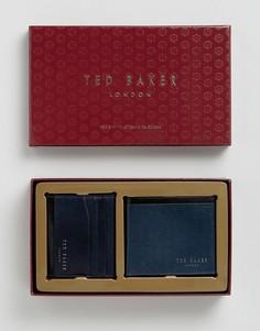 Подарочный набор с бумажником и кредитницей Ted Baker - Темно-синий