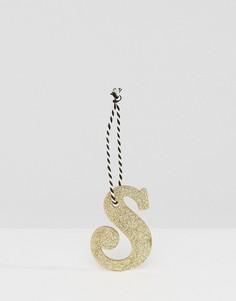 Новогоднее украшение в виде буквы S Sass & Belle - Мульти