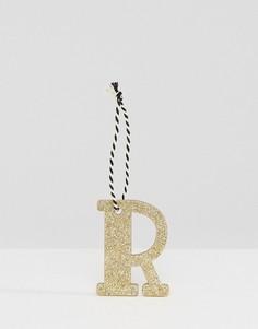 Украшение для новогодней елки в виде буквы R Sass & Belle - Мульти