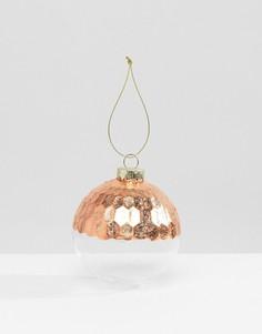 Новогодний шар с золотистыми блестками Sass & Belle - Мульти