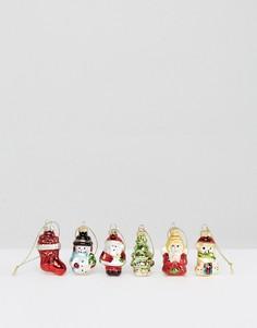 Набор из 6 блестящих елочных украшений Sass & Belle - Мульти