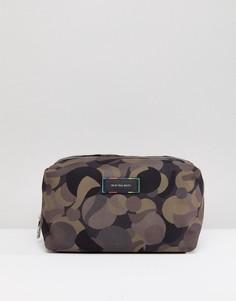 Камуфляжный несессер с отделкой из парусины и кожи PS by Paul Smith - Зеленый