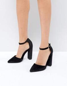 Туфли на каблуке с острым носом Boohoo - Черный