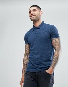 Выбеленная футболка-поло Brave Soul - Синий