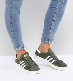 Кроссовки цвета хаки adidas Originals Campus - Зеленый
